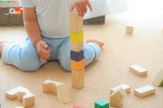 積み木遊び、英語